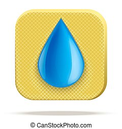Icon of waterproof material. - Technical illustration...
