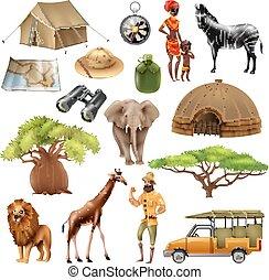 Safari Set Icon Set