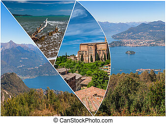 View of Lago Maggiore - Views of coastline of Lago Maggiore,...