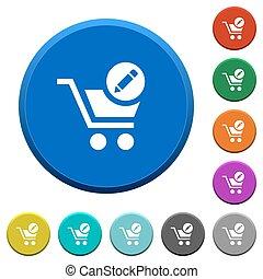 Edit cart items beveled buttons