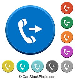 Outgoing phone call beveled buttons - Outgoing phone call...