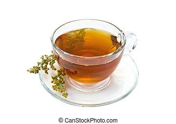 té, vidrio, Ajenjo, taza