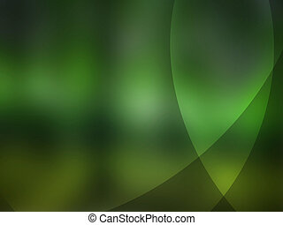 Abstract green background with energy lines