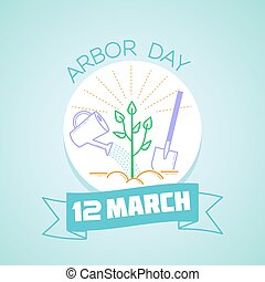 12 March Arbor Day - Calendar for each day on March 12....