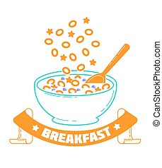 breakfast, good morning - Icon Cereal Day, breakfast, good...