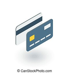 bank card isometric flat icon. 3d vector colorful...