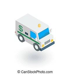 encashment service car, bank collector van, money delivery...