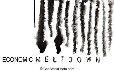 Barcode - Economic meltdown - Economic meltdown. Melted down...