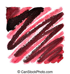 Doodle square with zigzag brush strokes. Abstract...