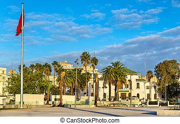 Square of Mohammed V in Casablanca, Morocco - Square of...