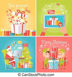 Best Presents with Love, Sale. Merry Christmas