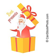 Best Presents from Santa Claus on White Background - Best...