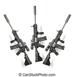 nosotros, ejército, M4, rifle
