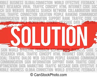 Solution word cloud collage
