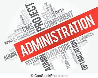 Administration word