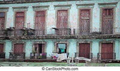 Old stone live building in Havana