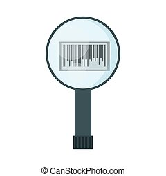 search code bar delivery icon vector illustration eps 10