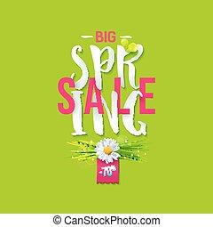 Big Spring sale label