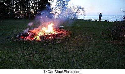 campfire pagan holiday latvia Midsummer night Ligo - DSLR...