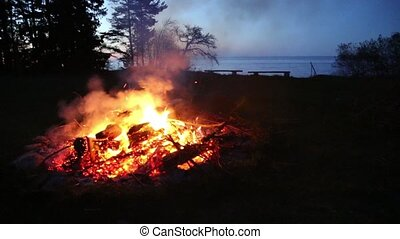 campfire pagan holiday latvia Midsummer night Ligo - DSLR...