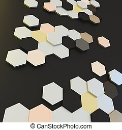 Abstract 3d background visualization