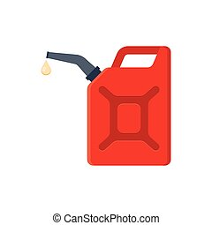 Canister of gasoline.