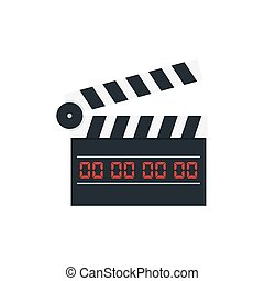 movie clapper board on white background. Vector...