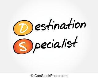 DS - Destination Specialist, acronym business concept