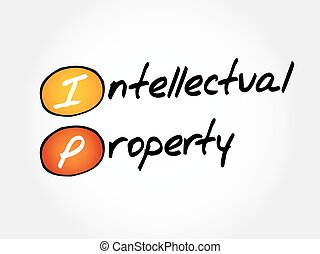 IP - Intellectual Property, acronym business concept