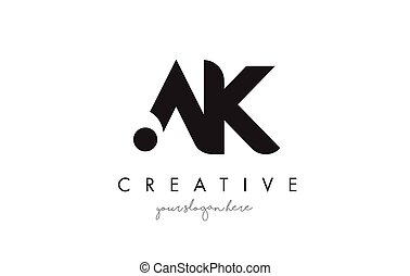 AK Letter Logo Design with Creative Modern Trendy...