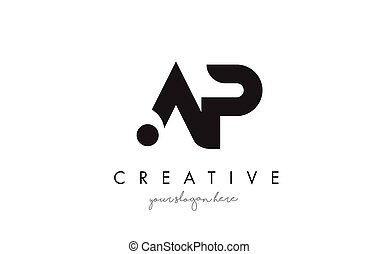 AP Letter Logo Design with Creative Modern Trendy...