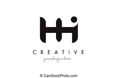HH Letter Logo Design with Creative Modern Trendy...