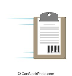 delivery clipboard code bar icon vector illustration eps 10