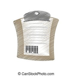 drawing delivery clipboard code bar vector illustration eps...