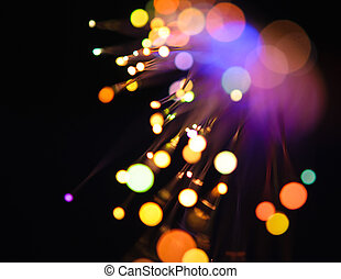 defocused lights - detail view of different defocused...