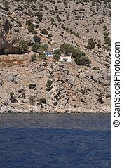 Kalymnos island - traditional houses in Kalymnos island,...