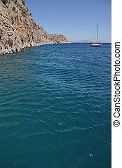 Kalymnos island - idyllic entrance of Kalymnos island,...