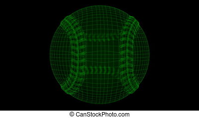 Seamless loop Baseball Ball Wiref
