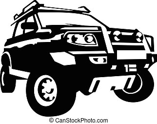 Off road vehicle car, vector illustration silhuette
