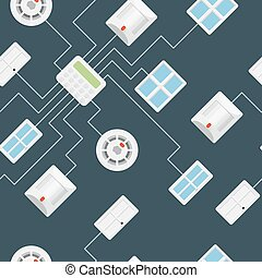 Security seamless pattern
