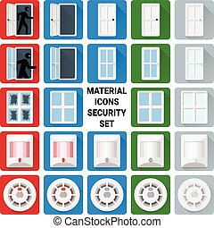 Material icons security set 1