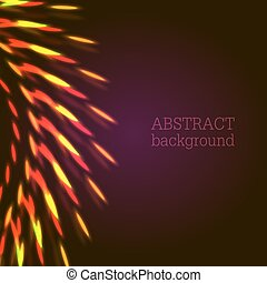 Red lights abstract background