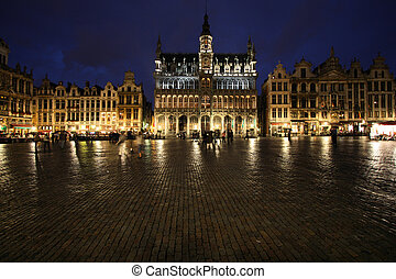 Brussels - Famous building: Maison du Roi The Kings House or...