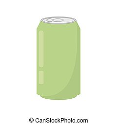 green soda can drink