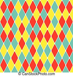 Harlequin parti-coloured seamless pattern 40 Color bright...