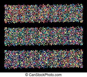 vector set of abstract backgrounds of colorful splinters,...