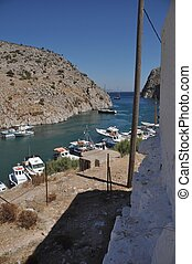 Kalymnos island - beautiful entrance of Kalymnos island,...