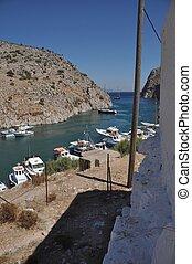Kalymnos island - beautiful entrance of Kalymnos island,...