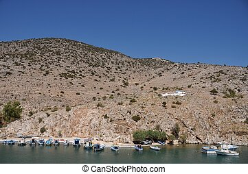 Kalymnos island - beautiful fishing boats in Kalymnos island...