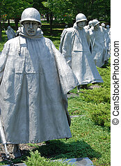 Korean war veterans memorial - View of Korean Veterans War...